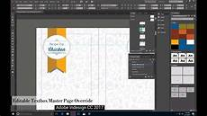 Adobe Software For Design How To Edit Master Page Text Boxes On Applied Pages In