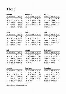 Calnder For 2010 Ousard 2010 Calendar