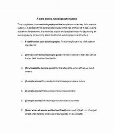 Writing An Autobiography Template 24 Autobiography Outline Templates Amp Samples Doc Pdf