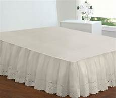 ivory bed skirt size 18 inch drop eyelet