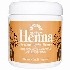 Rainbow Henna Light Brown Rainbow Research Henna Hair Color And Conditioner Light