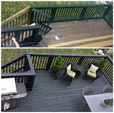 Light Or Dark Deck Stain Before Amp After Black Slate Stain Deck Amp Repair Deck