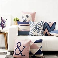 nordic style decorative throw pillows blue pink
