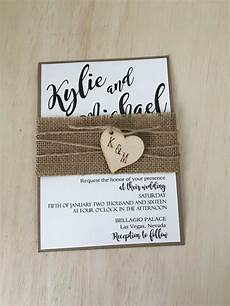 Burlap Wedding Invitations Rustic Wedding Invitation Burlap Wedding Invitation