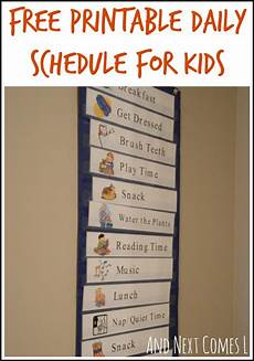Printable Daily Schedule Kids Free Printable Daily Visual Schedule And Next Comes L