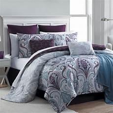essential home 16 complete bed set bedrose plum
