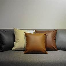 cuscini in pelle 45 45cm solid black brown beige european style sofa pillow
