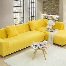 Yellow Sofa Slipcover 3d Image by Yellow Universal Stretch Sofa Cover For Living Room Solid