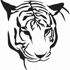 Simple Tiger Outline Simple Outline Tiger Head Design Tattooimages Biz