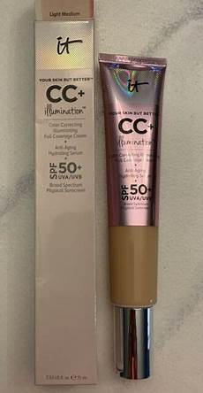 It Cosmetics Supersize Cc Illumination Light 2 53 Fl Oz It Cosmetics Cc Illumination Cream Your Skin But Better