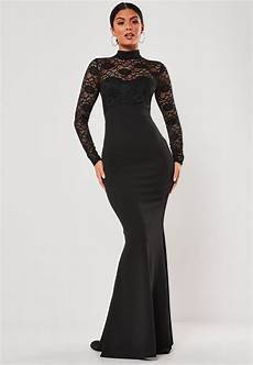 black lace sleeve maxi dress missguided