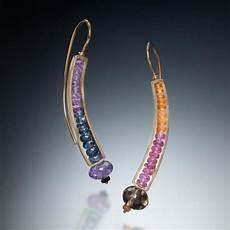 Kinzig Design Jewelry Gemstone Curve Earrings Gold Kinzig Design Studios