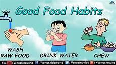 Good Eating Habits Chart Good Food Habits Youtube