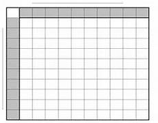 Football Square Template Printable Super Bowl Squares 100 Grid Office Pool Nfl My