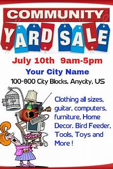 Garage Sale Poster Ideas Community Yard Sale Template Postermywall