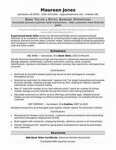 Resume Format For Banking Jobs Bank Teller Resume Sample Monster Com