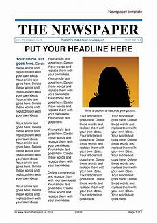 Newspaper Outline For Word Newspaper Template
