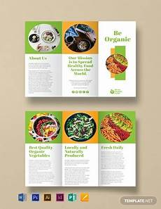Food Brochure Templates Free Organic Food Brochure Template Word Doc Psd