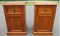 Bedside Cabinets Pair Polished Pine Bedside Cabinets Sold