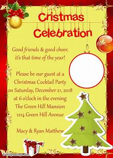 Invitation Letter Christmas Party Christmas Party Invitations And Christmas Party Invitation