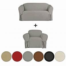 2 Sofa And Loveseat Slipcover 3d Image by 2 Micro Suede Furniture Slipcover Sofa Loveseat