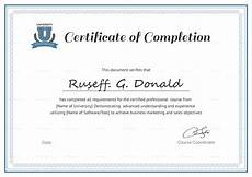 Certificate Of Successful Completion Professional Course Completion Certificate Design Template