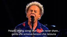 and testo tradotto the sound of silence testo tradotto