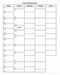 College Class Schedule Template College Schedule Template 7 Free Sample Example Format