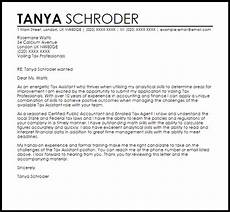 Assistant Treasurer Cover Letter Tax Assistant Cover Letter Sample Cover Letter Templates