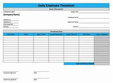 Daily Time Sheets Template Daily Timesheet Template For Free Download Replicon