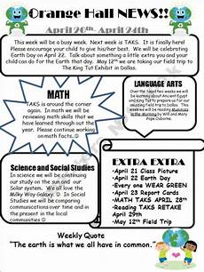 Examples Of Newsletters For Parents From Teachers Classroom Newsletter Template With Example 3rd 5th