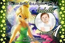 Tinkerbell Photo Invitations Tinkerbell Fairies Birthday Party Invitation Photo 1st