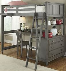 lake house loft bed with desk from ne