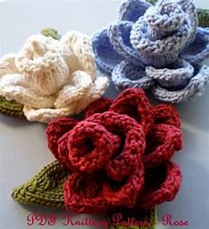 pdf knit flower pattern knit flower