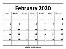 Calendars January 2020 February 2020 February 2020 Calendar August Calendar November