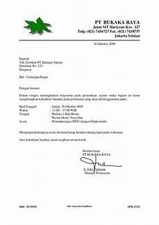 10 contoh surat undangan rapat terlengkap contoh surat