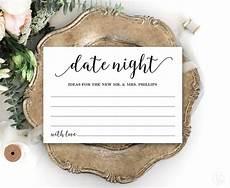 Date Night Card Templates Date Night Card Template Printable Wedding Date Night Card