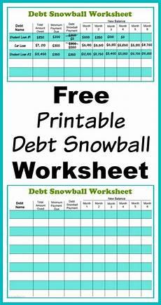 Snowball Worksheet Free Printable Debt Snowball Worksheet Perhaps The Best