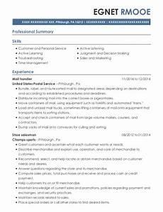 Mail Handler Resume United States Postal Service Mail Handler Resume Sample