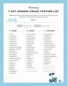 Packing List For Cruise 7 Day Summer Cruise Packing List We Ve Got Everything
