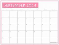 Free Printable September Calendar Free Printable September 2014 Calendar