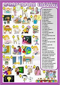 English Language Charts For Classroom Classroom English Matching Worksheet Free Esl Printable