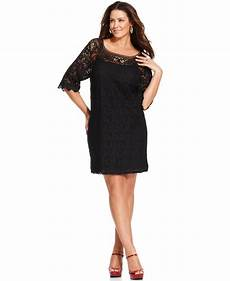 quarter sleeve dress lyst spense plus size three quarter sleeve lace dress in