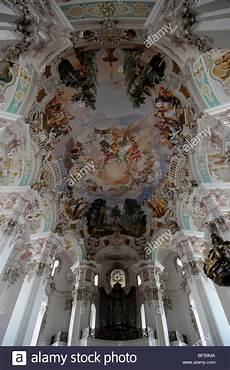 interior ceiling fresco pilgrimage church in steinhausen