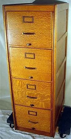 4 drawer antique oak file cabinet brass hardware recessed s