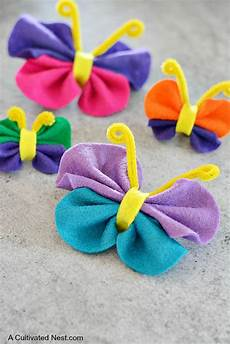 crafts felt easy no sew felt butterfly craft