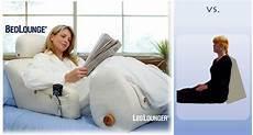 bedlounge leglounger reclining support pillows