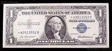 Silver Certificate Dollar Bill Value Chart One Dollar Bill Silver Certificate Star Note Series 1957