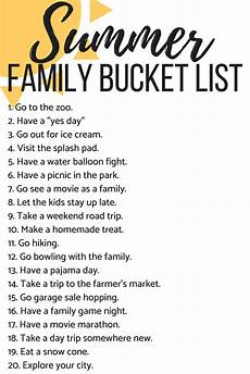 Babysitting Ideas For Summer The Ultimate Summer Bucket List 80 Ideas Love