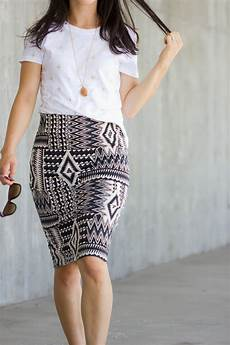 knit pencil skirt pattern re mix tutorial